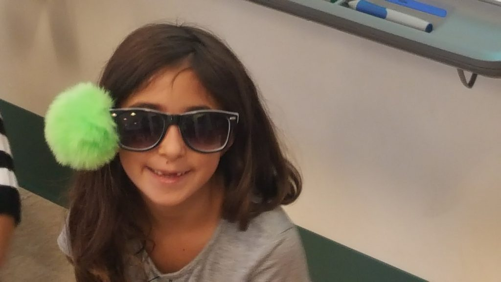"This 2nd grader looked fabulous for ""Crazy Cool Sunglasses Day!"""