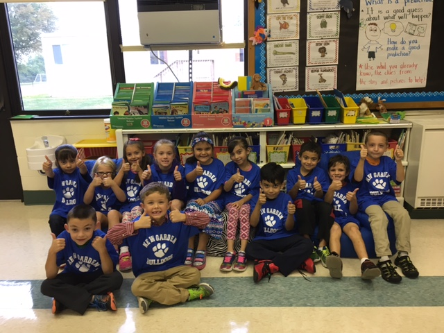 T-shirts were delivered to first graders by New Garden