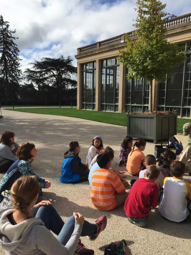 Students enjoying an educational day at Longwood Gardens.