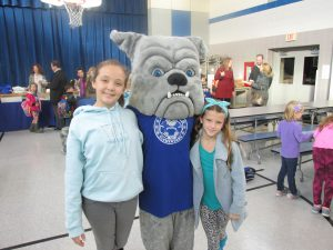 Breakfast with Buddy the Bulldog mascot
